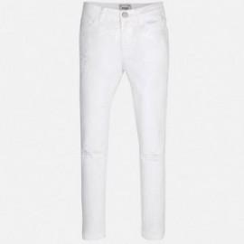 Mayoral 6535-55 Spodnie serża cekiny kolor Biały