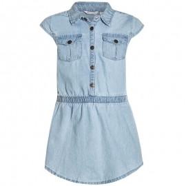 Pampolina 6764128-0014 Sukienka jeans kolor niebieski