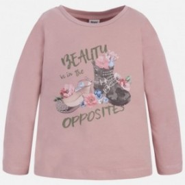 Mayoral 4057-12 Koszulka d/r buty kolor Jasny róż.