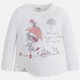 Mayoral 4063-73 Koszulka d/r lalka parasol kolor Krem-guma