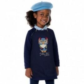 Mayoral 4961-43 Ciepła sukienka sowa kolor Granatowy