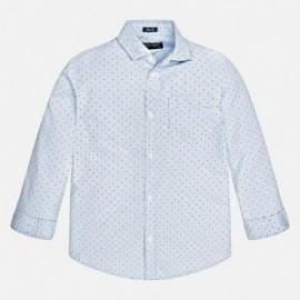 Mayoral 7133-90 Koszula d/r wzory kolor Błękitny