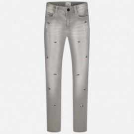 Mayoral 7535-32 Spodnie długie jeans strass kolor Jasn.szary