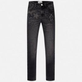 Mayoral 7537-22 Spodnie jeans gwiazdki kolor Czarny