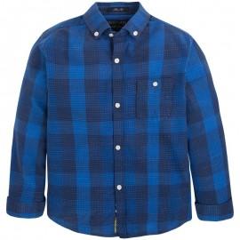 Mayoral 7131-95 Koszula dł. rękaw. krata żakard kolor Niebieski
