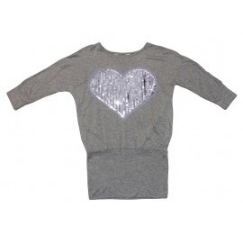 Bluzka tunika import serce popiel