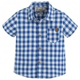 Mayoral 1158-51 Koszula krót.ręk.krata kolor Niebieski
