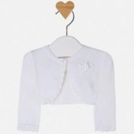 Mayoral 1303-72 Sweter rozp.dzian. ażur. kolor Biały