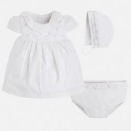 Mayoral 1807-20 Sukienka czapeczka kolor Biały