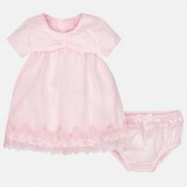 Mayoral 1833-11 Sukienka haft w dolnej części kolor Róż.baby