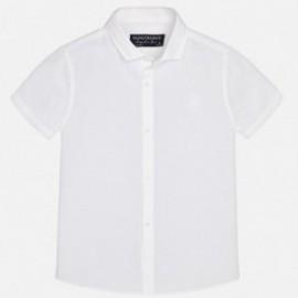 Mayoral 870-15 Koszula k/r len basic kolor Biały