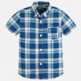Mayoral 3153-21 Koszula k/r krata slim fit kolor Ocean