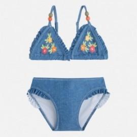 Mayoral 3727-30 Bikini kwiat haftowany kolor Jeans