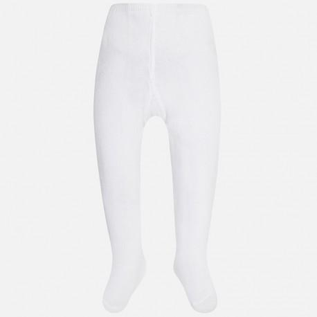 Mayoral 9589-82 Rajstopy gładkie kolor Biały