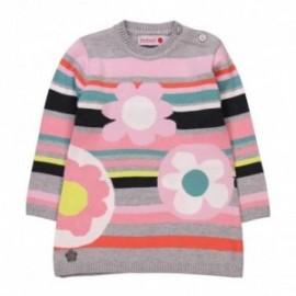 Boboli 204039_8034 sweter kolor popiel/róż