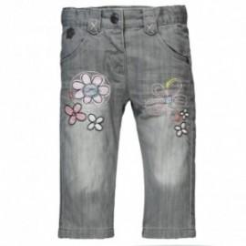 Boboli 204084_GREY Spodnie jeans ocieplane kolor popiel