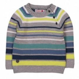 Boboli 304096_8034 sweter pasy kolor szary