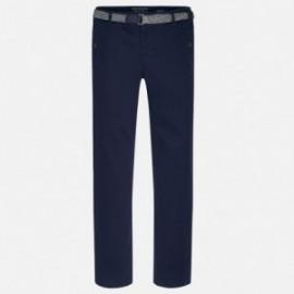 Mayoral 7513-42 Spodnie klasyczne z paskiem kolor Granatowy