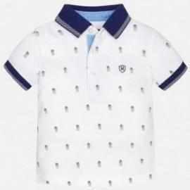Mayoral 1123-72 Koszulka polo krót.ręk.nadruk kolor Biały