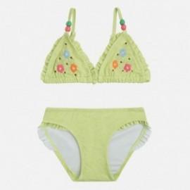 Mayoral 3727-31 Bikini kwiat haftowany kolor Limonka