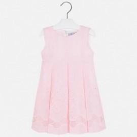 Mayoral 3929-45 Sukienka len haft kolor Różowy