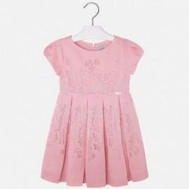 Mayoral 3937-55 Sukienka kwiatki kolor Różowy