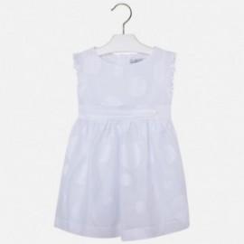 Mayoral 3941-12 Sukienka woal kropki kolor Biały