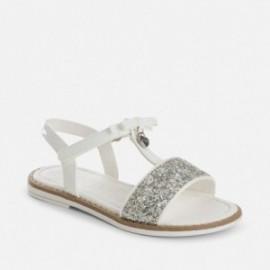 Mayoral 45781-46 Sandałki glitter kolor Biały