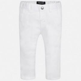 Mayoral 522-32 Spodnie klasyczne serża kolor Biały