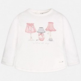 Mayoral 2041-72 Koszulka d/r lampy kolor Krem-różow