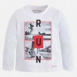 """Mayoral 4041-51 Koszulka d/r """"run"""" kolor Biały"""