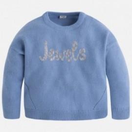 "Mayoral 4329-20 Sweter trykot ""jewels"" kolor Lawendowy"