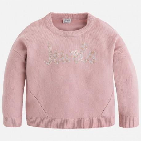 "Mayoral 4329-21 Sweter trykot ""jewels"" kolor Jasny róż."