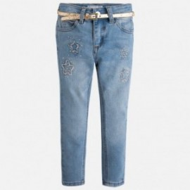 Mayoral 4547-55 Spodnie długie gwiadki kolor Jasny