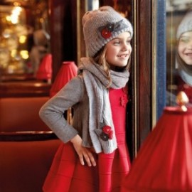 Mayoral 4931-28 Sukienka dzianina dwustronna kolor Czerwony