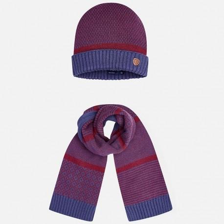 Mayoral 10220-27 Kompl. czapka szalik kolor Berry