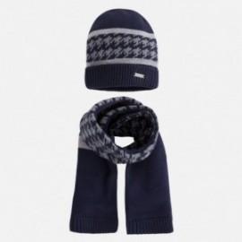 Mayoral 10258-25 Komplet czapka szalik kolor Granatowy