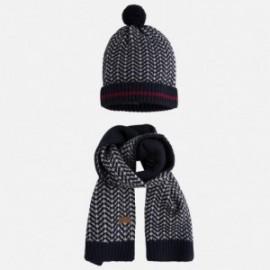 Mayoral 10259-79 Komplet czapka szalik kolor Granatowy