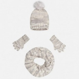 Mayoral 10323-16 Komplet czapka szalik rękawic kolor Lód