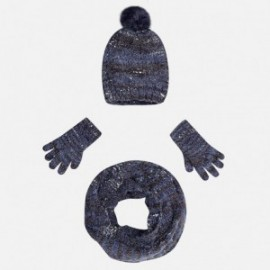 Mayoral 10323-17 Komplet czapka szalik rękawic kolor Granat