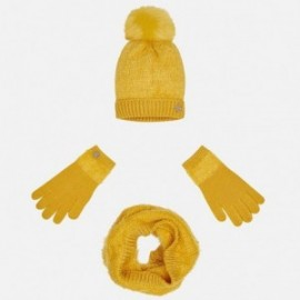 Mayoral 10324-49 Komplet czapka szalik rękawic kolor Bursztyn