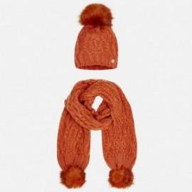 Mayoral 10325-56 Komplet czapka szalik kolor Pomarałcza