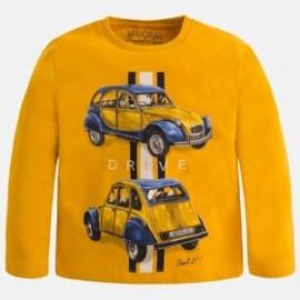Mayoral 4009-79 Koszulka d/r nadruk samochody kolor Kurkuma