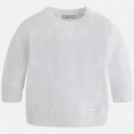 Mayoral 4321-35 Sweter krótki z futerkiem kolor Kremowy