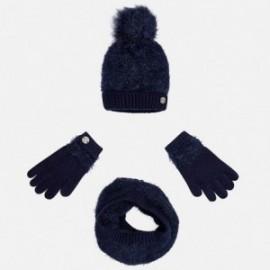 Mayoral 10324-52 Komplet czapka szalik rękawic kolor Granatowy