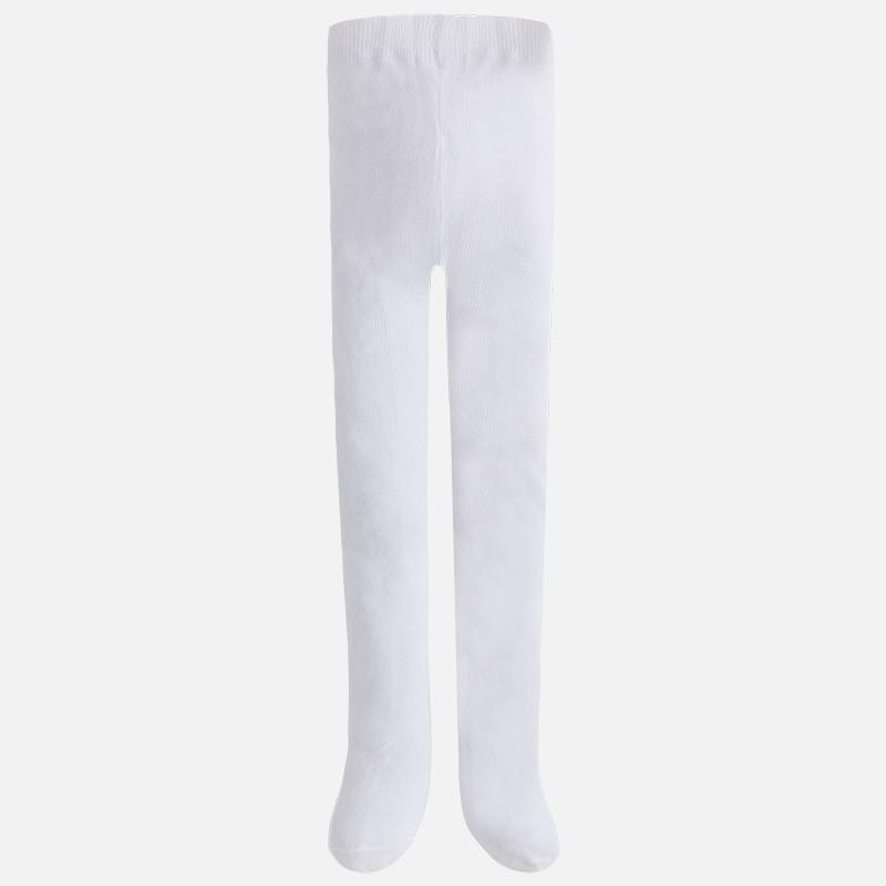 Mayoral 10274-77 Rajstopy gładkie kolor Biały