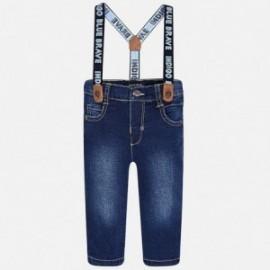 Mayoral 2569-44 Spodnie jeansowe z szelkami kolor Ciemny