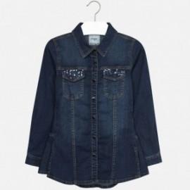 Mayoral 7127-5 Bluzka jeans cekiny kolor Jeans
