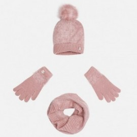 Mayoral 10324-51 Komplet czapka szalik rękawic kolor Jasny róż.