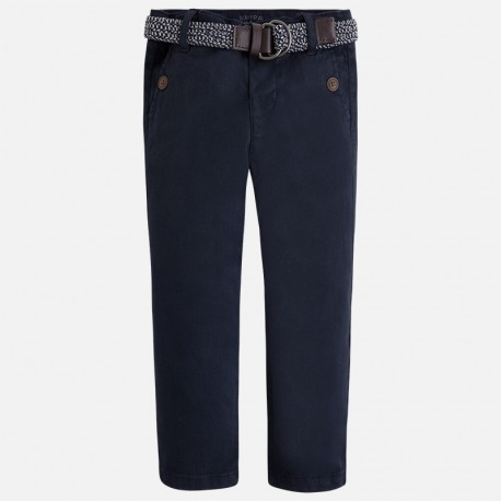 Mayoral 4509-91 Spodnie chino z paskiem kolor Tytan